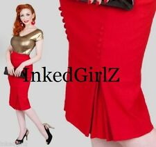 NWT Tatyana CAT WALK SKIRT Retro 50s RED PENCIL Bettie Page MERMAID PinUp XS-4XL
