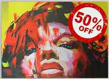 YellowLady [50x70] FRANCOISE NIELLY Palette knife style Modern art Giclee canvas