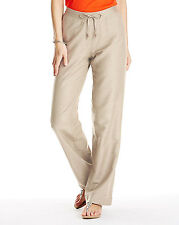 Anthology Plus Size Stone Linen Blend Wide Leg Short Trousers with Elasticated W