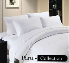 600-800-1000-1200TC  White Solid 1000TC 100% Egyptian Cotton US Bedding All Size