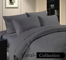 600-800-1000-1200TC Grey Solid 1000TC 100% Egyptian Cotton US Bedding All Size