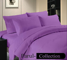 600-800-1000-1200TC Purple Solid 1000TC 100% Egyptian Cotton US Bedding All Size