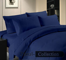 600-800-1000-1200TC Navy Blue Solid 1000TC 100% Egyptian Cotton US Bedding Size