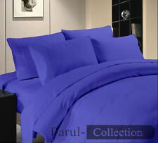 600-800-1000-1200TC Egyptian Blue Solid 1000 TC 100% Egyptian Cotton US Bedding