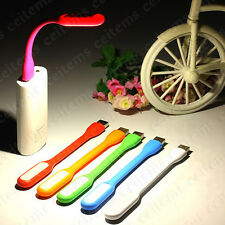 Portable Flexible Bright USB LED Reading Light Lamp 4 Power Bank Notebook Laptop