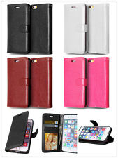 For Various Smart Phones Luxury Flip Leather Wallet Card Cover Stand Phone Case