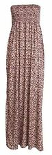 New Ladies Plus Size Leoprad Print Sheering Boob Tube Maxi Dress 8-22