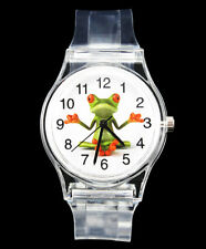 Pandora Frog Prince Boy Girl Kids Child Cartoon Transparent Quartz Wrist Watch