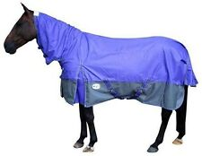 CARIBU 600 Denier Turnout Rainsheet Combo Horse Rug, All Sizes, Purple