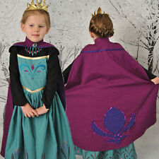 Frozen Princess Cape Dress Anna Elsa Queen Girls Cosplay Costume Party Dresses