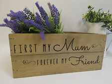 Mothers Day Personalised Wooden Crate Mothers Day Gift Hamper Rustic Shabby Chic