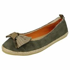 *SALE* Ladies Khaki Slip On Summer Casual Canvas Espadrille Shoes ONLY £5.99