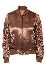 British Label Sateen Bomber Jacket with stripped Collar and Cuffs light padding