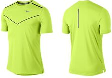 NWT$75 Men's L Nike Dri-FIT Reflective Volt/Black Running Racing Training Shirt