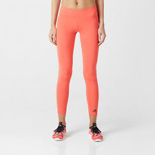 Adidas Ultimate Fit Womens Orange Climalite Long Tights Gym Bottoms Pants