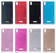 Luxury Brushed Steel Metal Back Plastic Case Cover for Sony Xperia Z5 compact