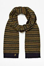 NEW FRENCH CONNECTION HUDSON FAIR ISLE SCARF