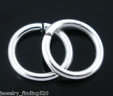 Wholesale New Silver Plated Open Jump Rings 1.2x9mm
