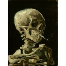 Vincent Van Gogh 1886 Skull With Cigarette Painting Art New Poster Reproduction