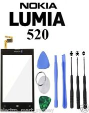 Black Touch Digitizer Screen Glass Lens Replacement Part For Nokia Lumia 520