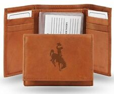 New Wyoming Embossed Leather Trifold Wallet