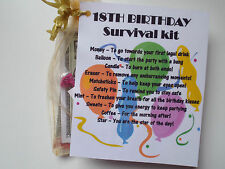 18th/21st/30th/40th/50th Novelty Survival Novelty Gift Fun Keepsake Unique