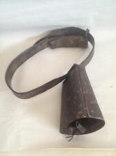 Vintage Farm Country PA Bells-Goat Bell & Cow Bell with Leather Strap