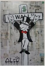 Wall St Cross [60x90] ALEC Monopoly giclee canvas Modern urban spraypaint art
