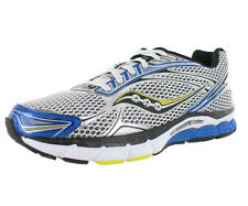 Saucony Power Grid Triumph 9 Mens Running Soes White/royal Blue/yellow Size