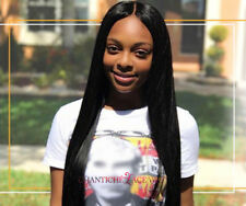 Yaki Straight Full Lace Wig Indian Remy Human Hair Lace Front Wigs Black Women