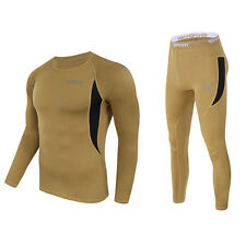 Mens Base Layer Sports Wear Tops T-Shirts Compression Tights Skin Pants Slim Fit