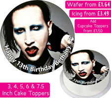 MARILYN MANSON EDIBLE WAFER & ICING PERSONALISED CAKE TOPPER DECORATION BIRTHDAY