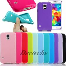 Ultra Slim Soft Silicone Gel Rubber Jelly Case Cover For Samsung Galaxy S5 i9600