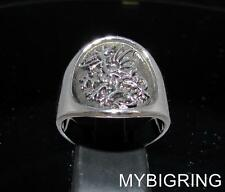 STERLING SILVER MENS MEDIEVAL BAND RING GRIFFIN GRYPHON DRAGON ANTIQUED ANY SIZE