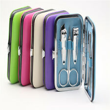 Nice7 pcs Manicure Set Nail Care Clippers Scissors Travel Grooming Kits Case New