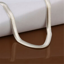 Useful Men Women 925 Sterling Silver Plated 4MM Snake  Necklace Chain Jewelry 1X