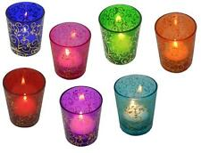 Tea Light Candle Holders Moroccan Glass Tealight Votive Holder Wedding Party