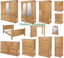 Edwardian Solid Pine Bedroom Furniture | Wardrobes | Chest of Drawers | Bedsides