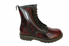New Grinders Cedric 8 Eyelet Derby Lace Red Mens Ladies Mid Calf Leather Boots