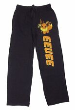 Mens Womens NEW Pokemon Eevee Dark Gray Pajama Lounge Sleep Pants Size XS S L