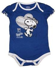 NWT Kansas City Royals MLB Snoopy Peanuts Newborn/Infant Girls Creeper Onesie