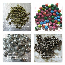 Spacer Beads Egg Daisy Filigree Cone Bead Shaped 5mm 4mm 8mm