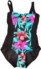 NWT Beach Diva Control Slimming Floral Scoop Back One-Piece Swimsuit Size 10, 12