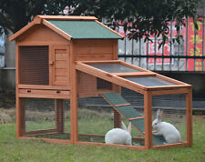 RABBIT GUINEA PIG HUTCH HUTCHES RUN RUNS DOUBLE TIER WITH RUN DOUBLE DECKER BF1