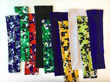 NEW Sports COMPRESSION ARM SLEEVE Baseball Football Basketball Digital Camo Neon