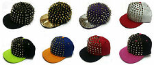 HIP HOP PUNK CAP SPIKES SPIKY STUDDED SNAPBACK HATS CAPS ~USA Seller~