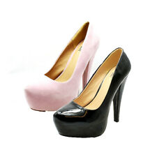 Ladies concealed mega Platform high heel court shoes