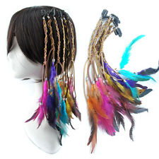 Fashion Bohemia Cute Dyed Chiken Feather Clip In Feather Hair Extension Lot