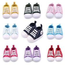Fashion Kids Newborn Boy Girl Crib Shoe Toddler Canvas Soft Sole Sneakers 0-12M