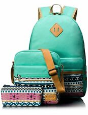 Girl Cute Canvas Laptop Purse/Pen Bag Messenger Shoulder Travel School Backpack